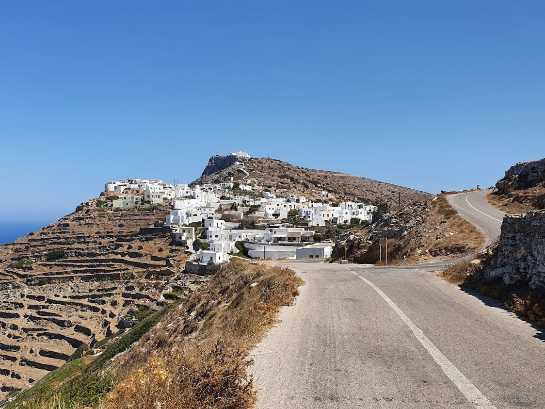 The Kastro Chora in Sikinos Greece