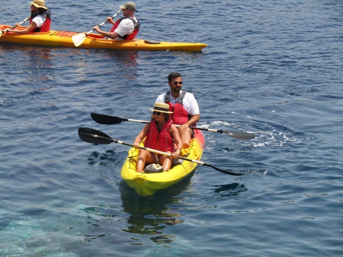 Kayaking in Milos greece