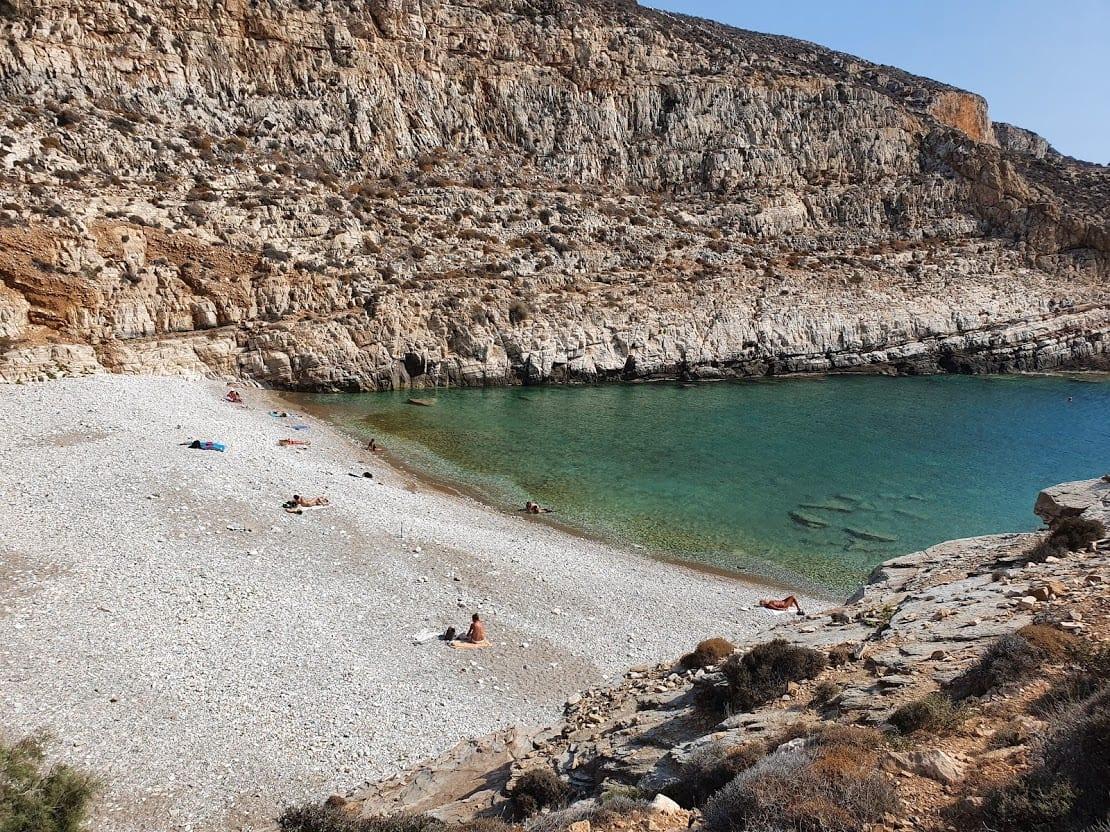 A view of Livadaki Beach in Folegandros