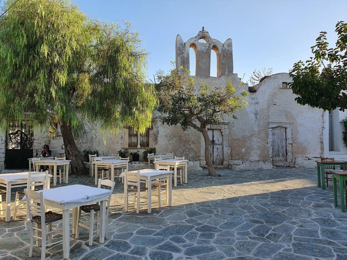 Main square in Folegandros greece