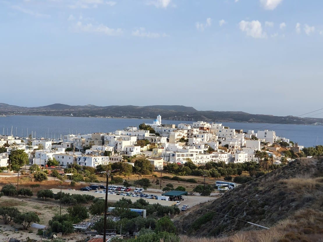 The main port of Milos is at Adamas
