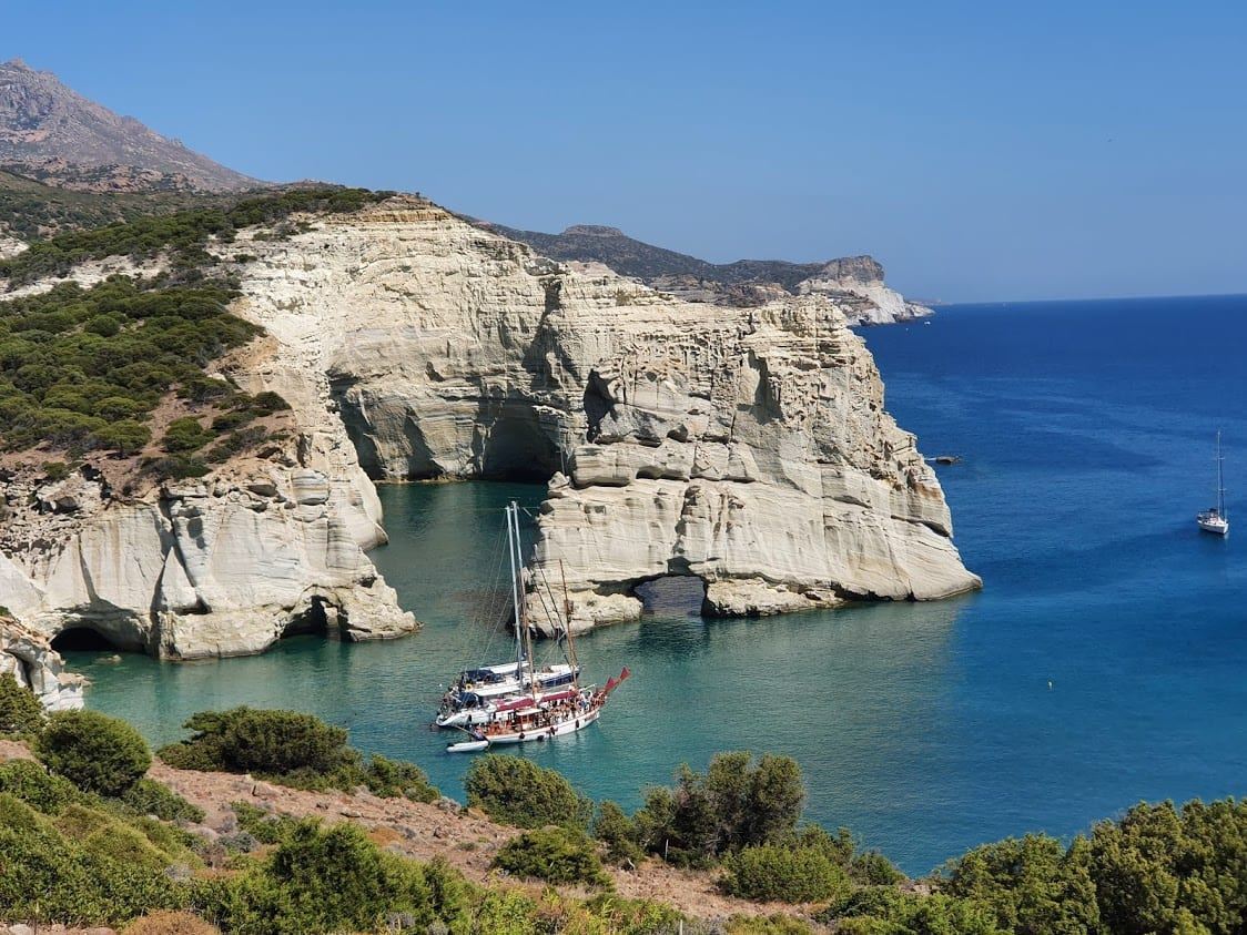 Milos boat tours to Kleftiko are among the most popular day trips in Milos island Greece