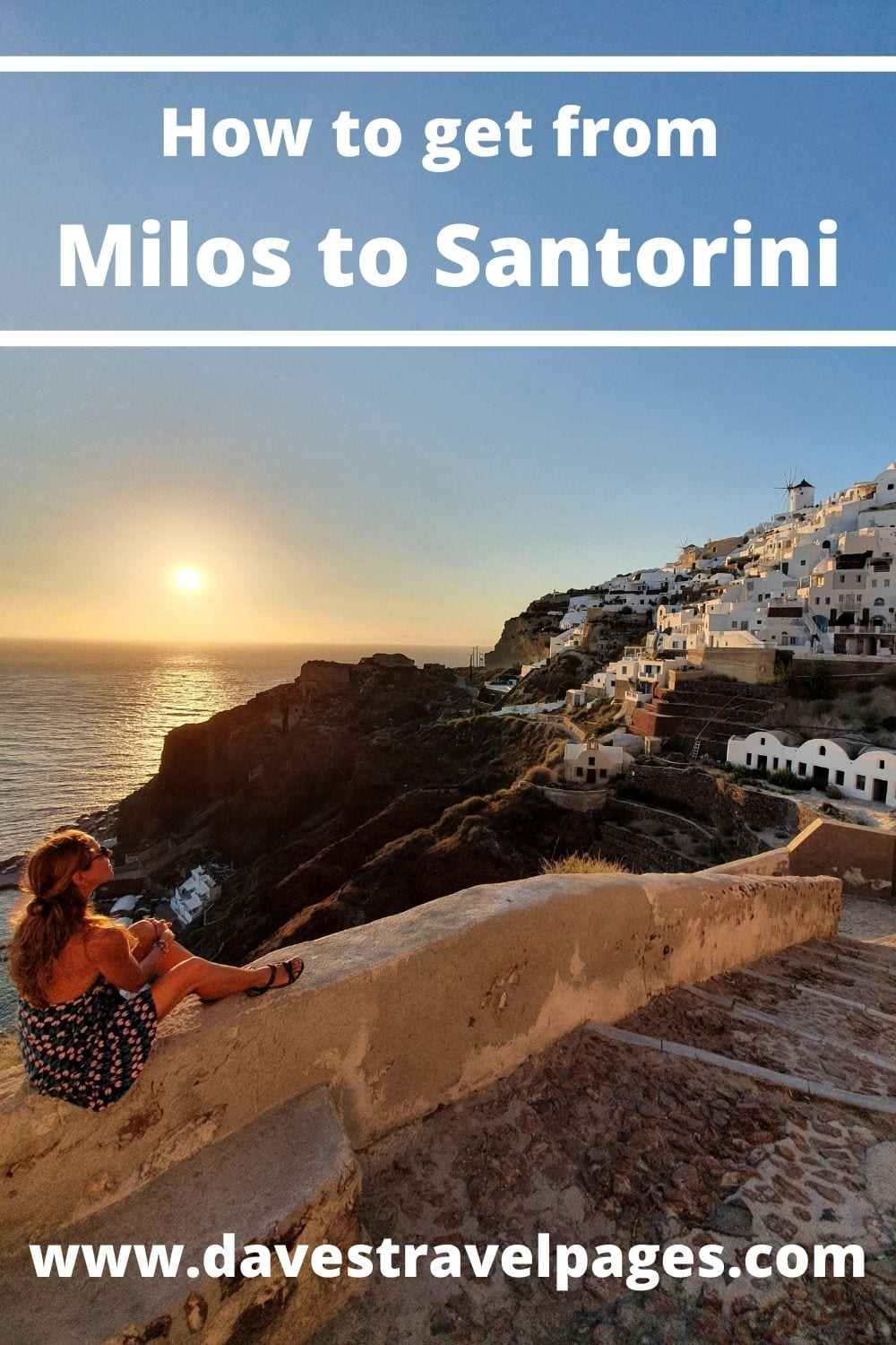 How to get from Milos to Santorini by ferry