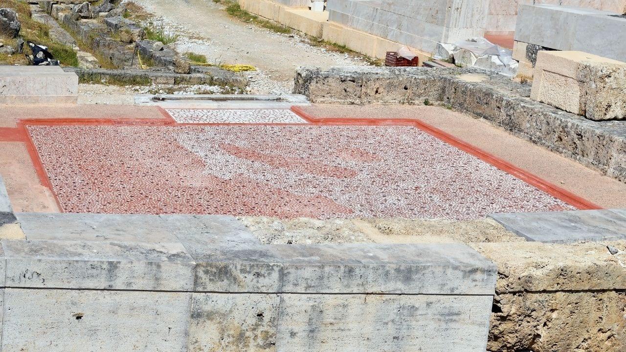 Mosaic at Vergina in Greece