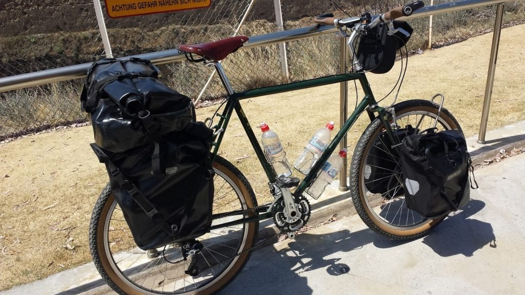 My bike complete with touring pedals