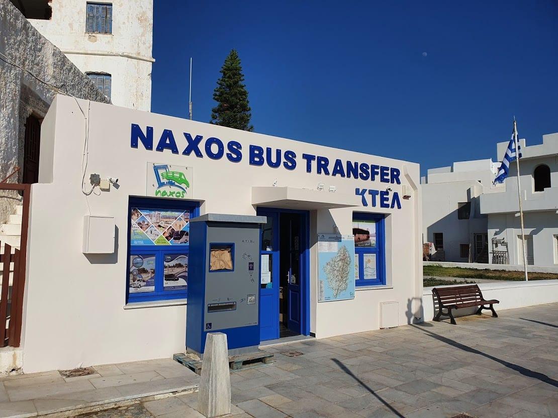 Naxos bus transfer station
