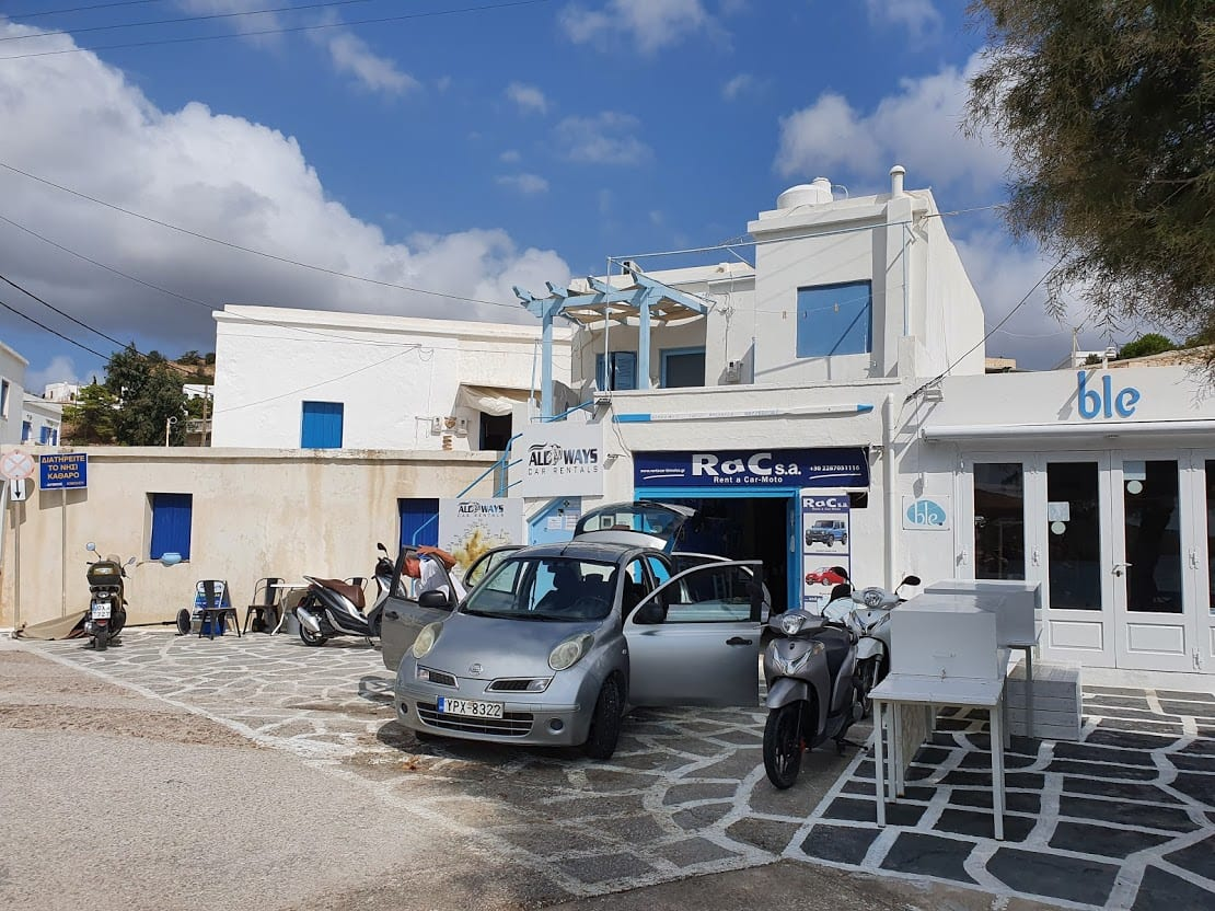 Rent a car in Kimolos greece