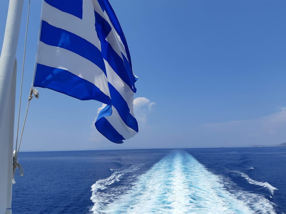 Sailing on a Greek ferry