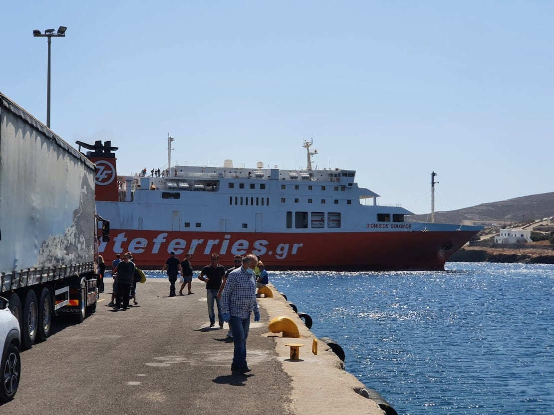 Using the ferry to island hop from Folegandros to other islands in the Cyclades