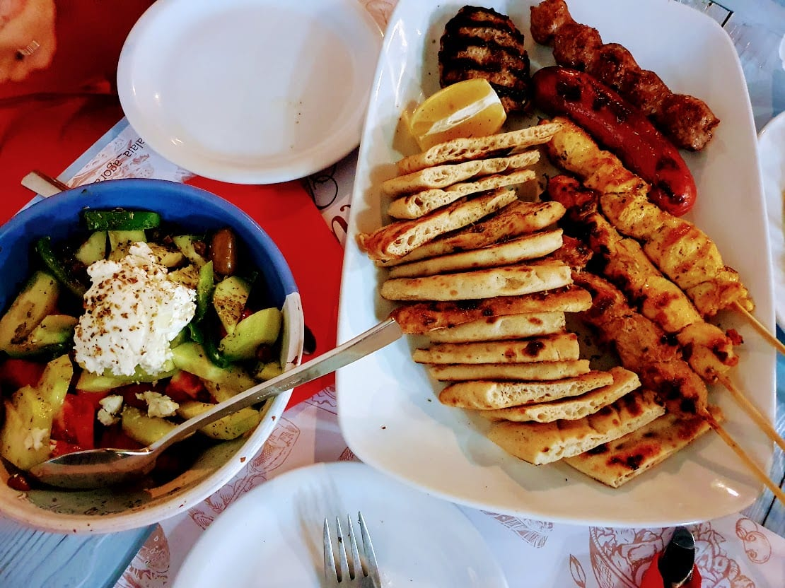 The best souvlakia in Greece may be in Kimolos!