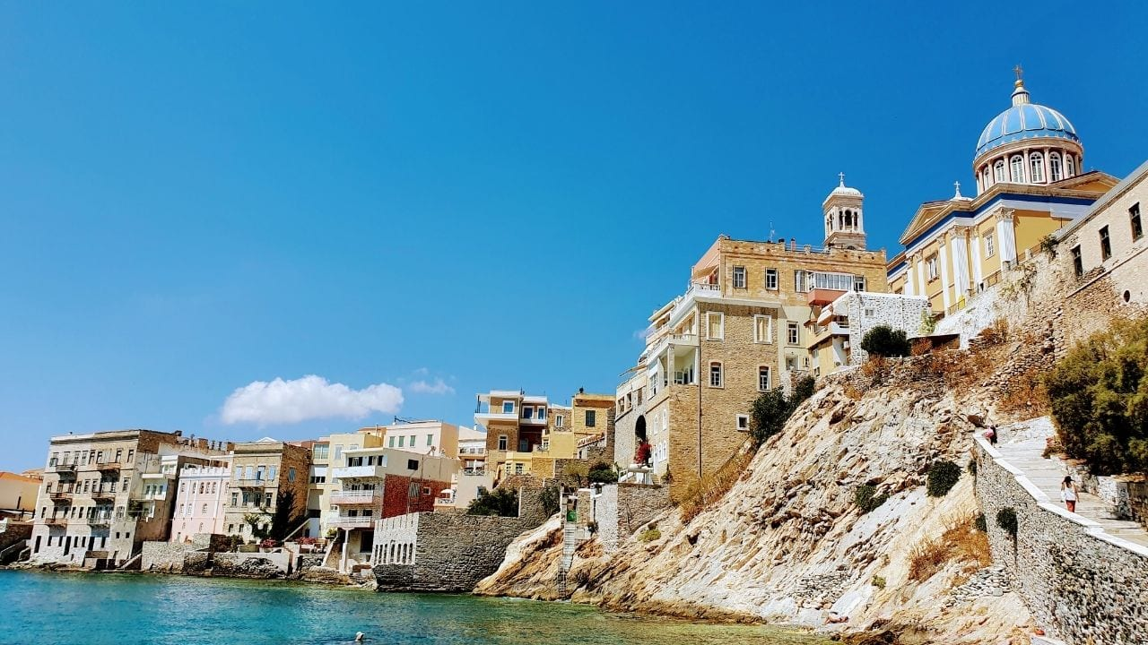 Syros island is the capital of the Cyclades islands in Greece