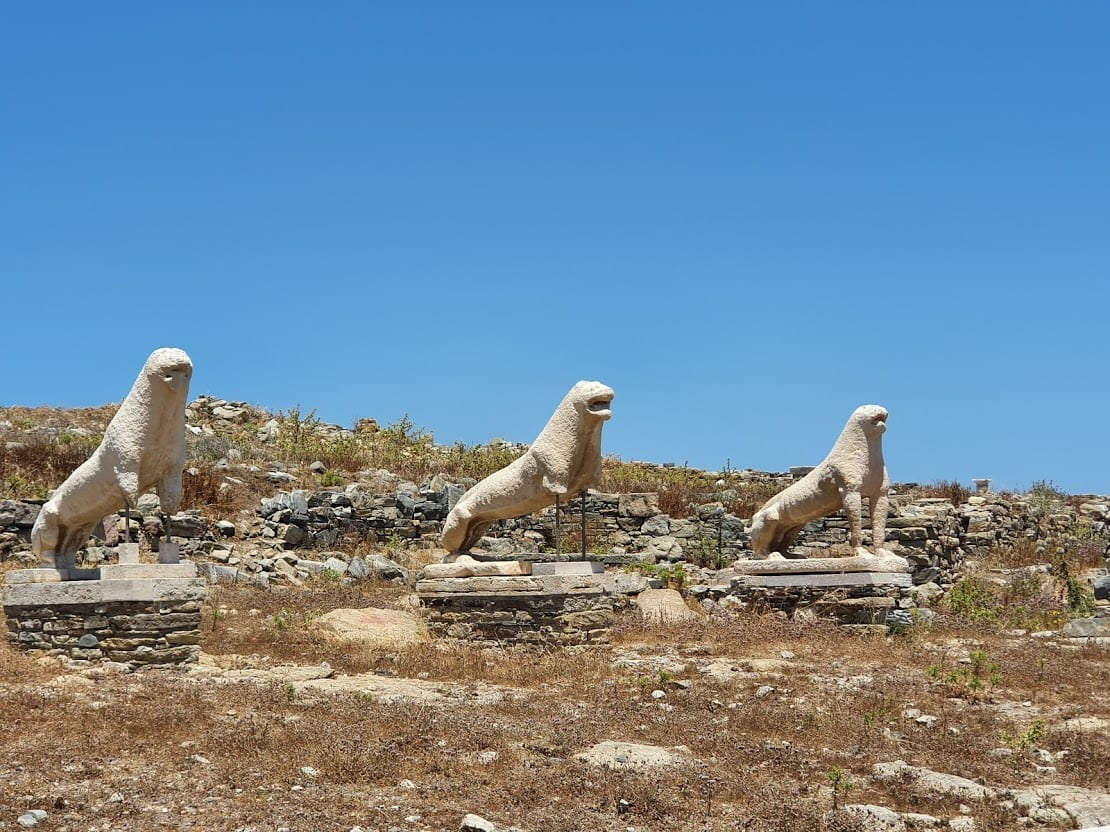 Three of the Naxian Lions in Delos