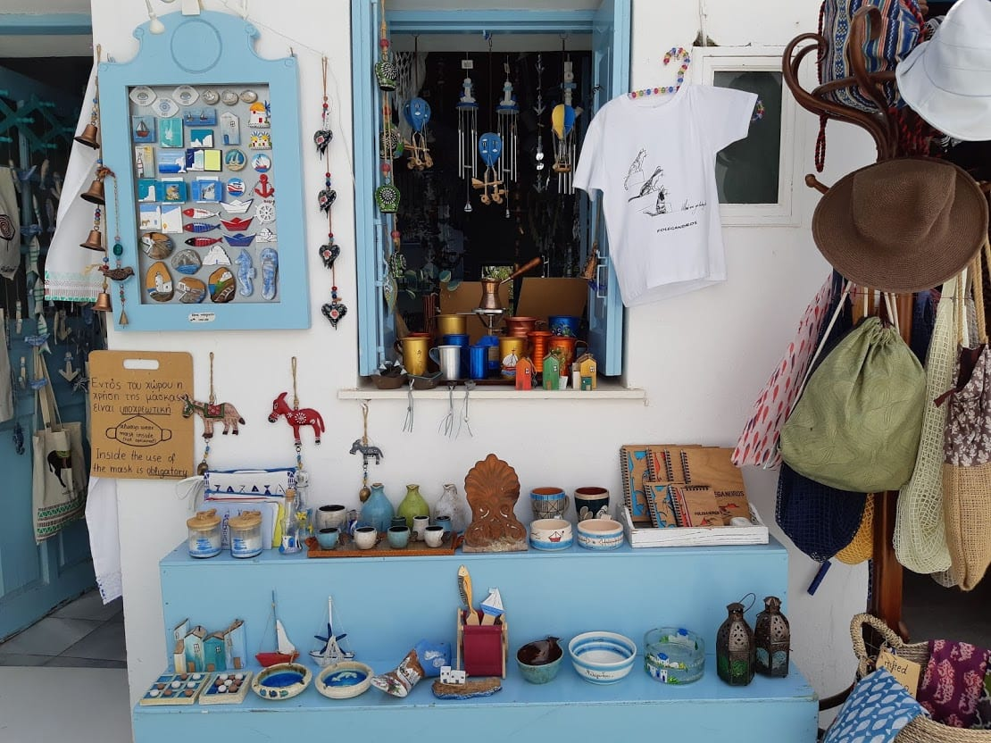 A tourist shop in Folegandros