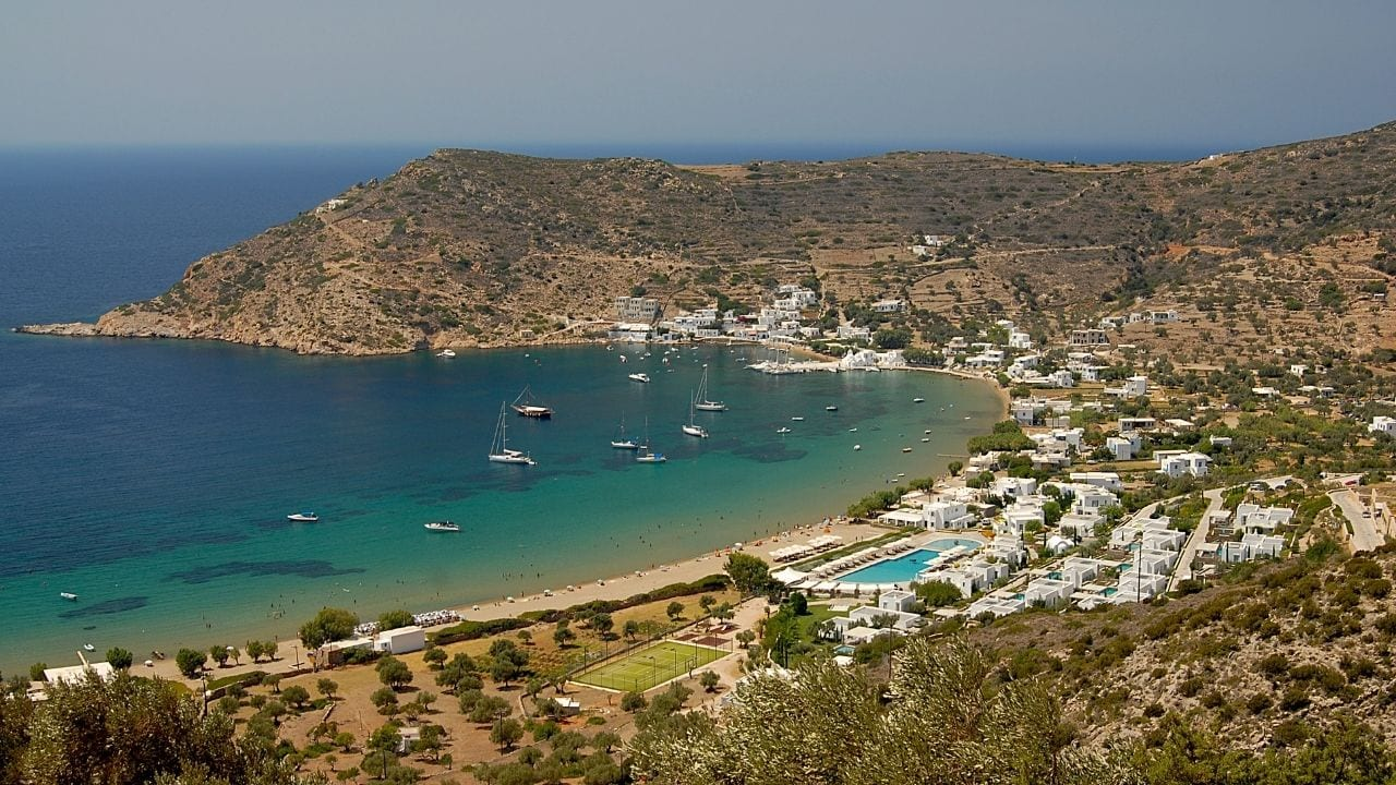 Vathi beach in Sifnos Greece