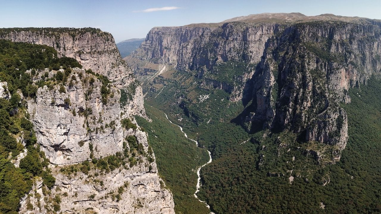 A view of Vikos Gorge in Greece