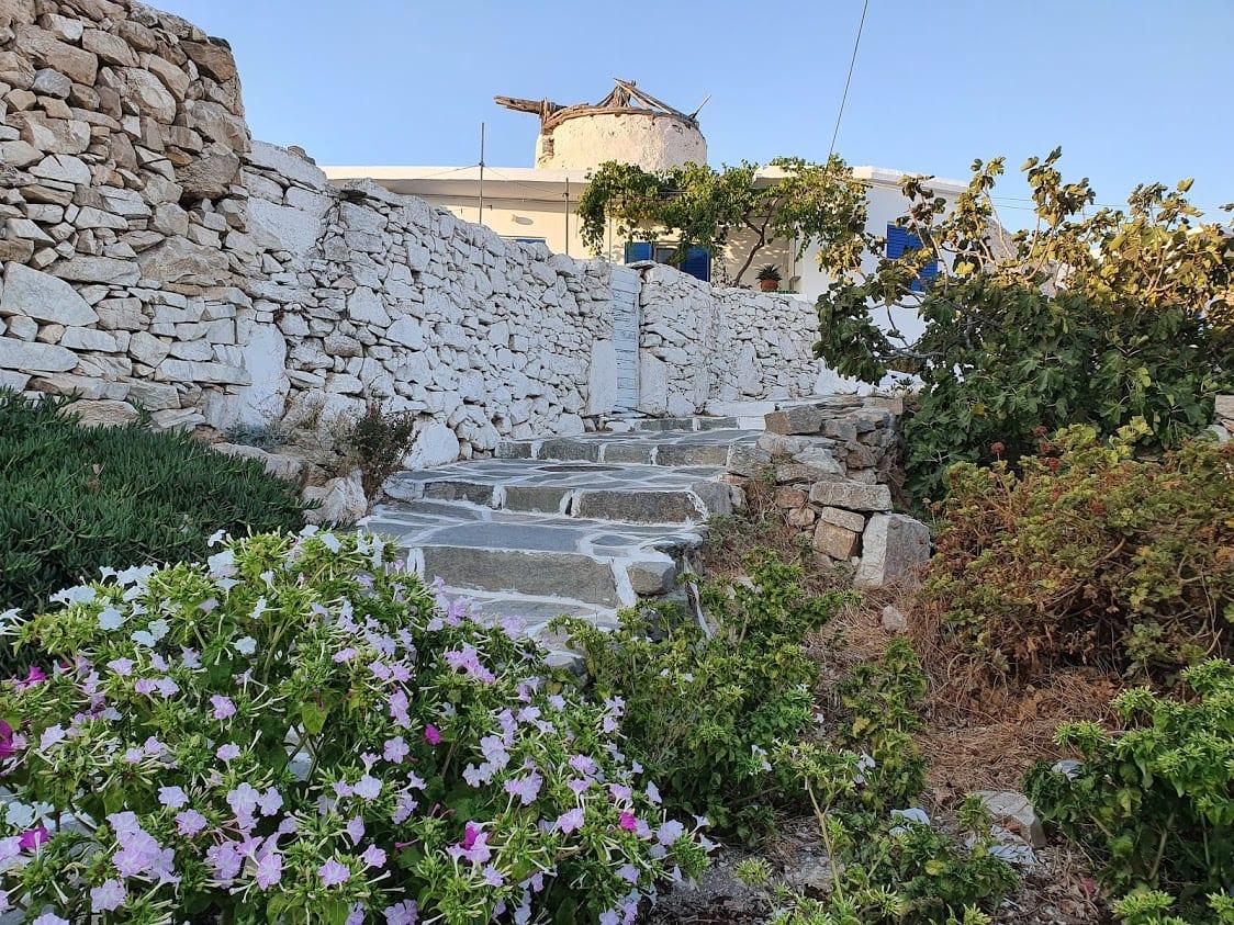 Walking in Chora in Sikinos