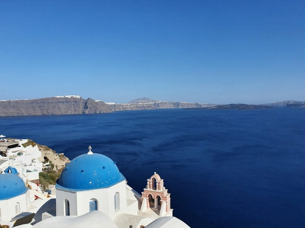 A view over the Santorini caldera - one of the best views in greece!