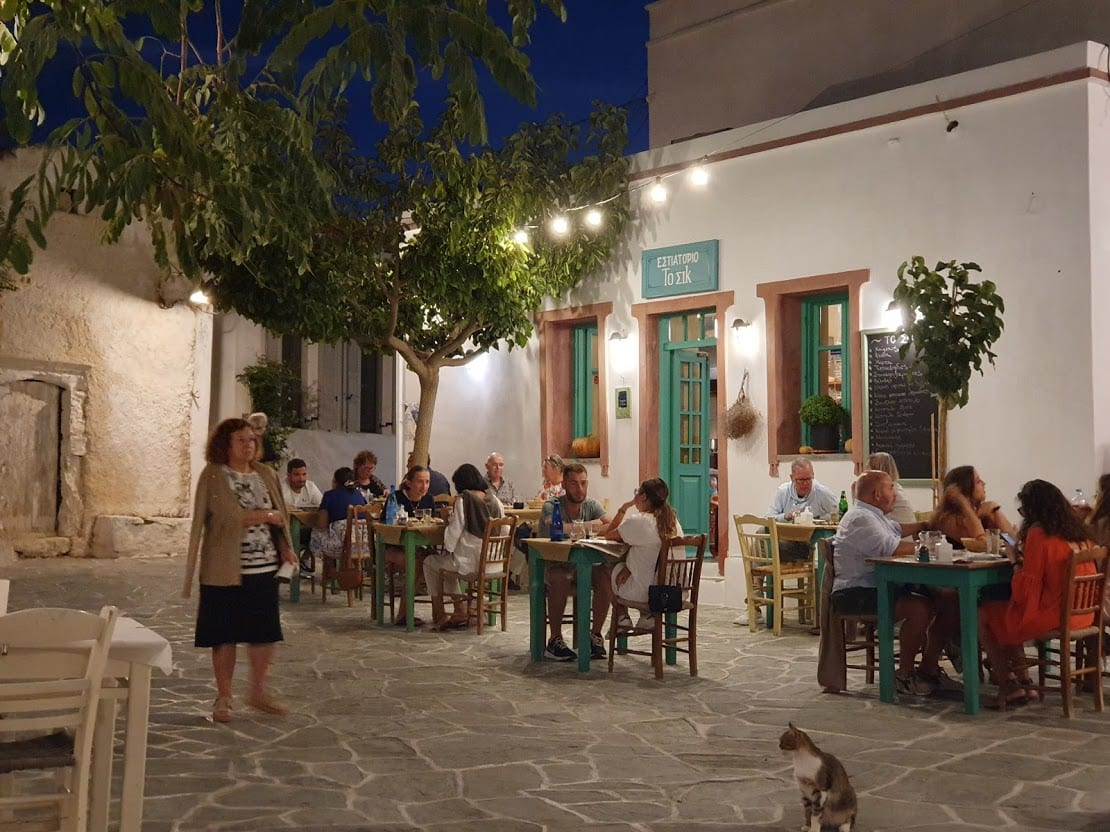 Chora in Folegandros is where most tourists choose to eat and spend the evening