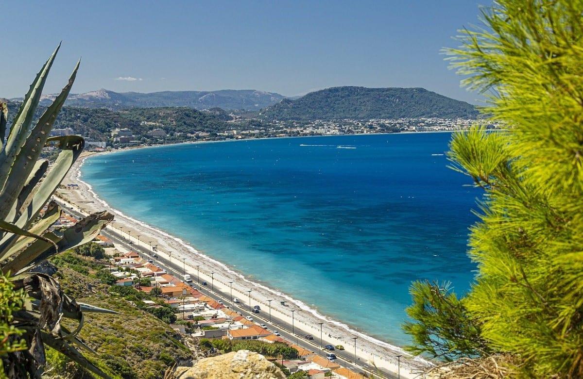 Rhodes beach greek island best beaches