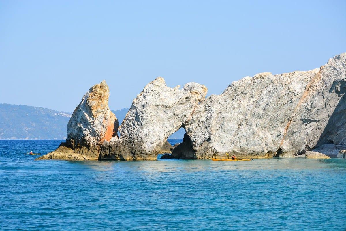 Lalaria beach in Skiathos best beaches greek islands