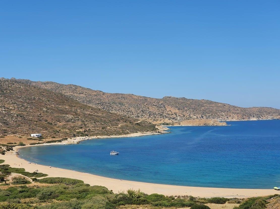 A beautiful beach on the Greek island of Ios