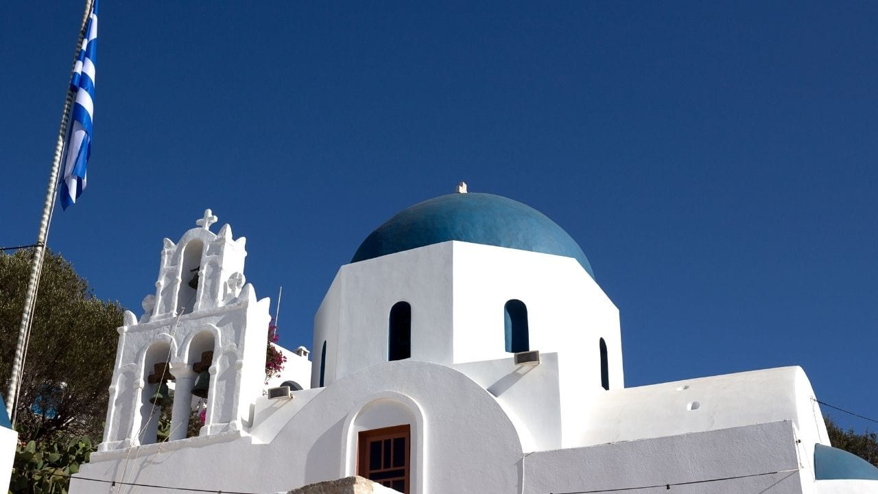 You can get to this church in Donoussa by taking the ferry from Athens in Greece
