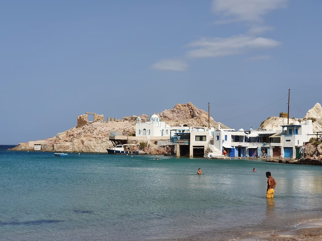 Getting to the Cyclades islands in Greece to enjoy the swimming