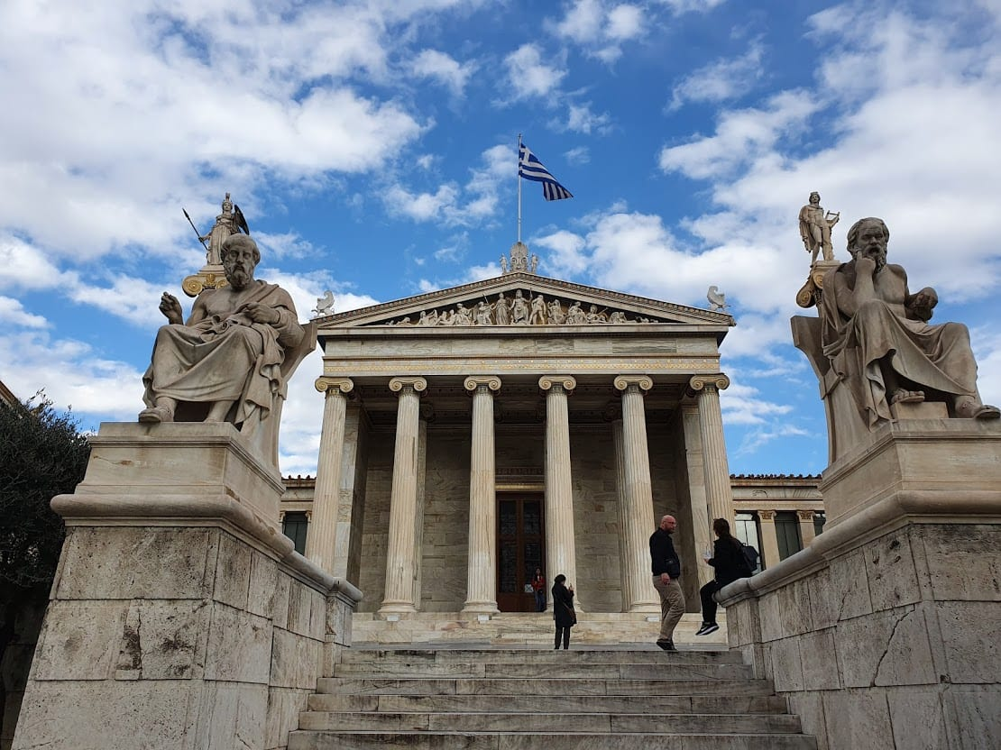 On of the neoclassical trilogy buildings in athens greece