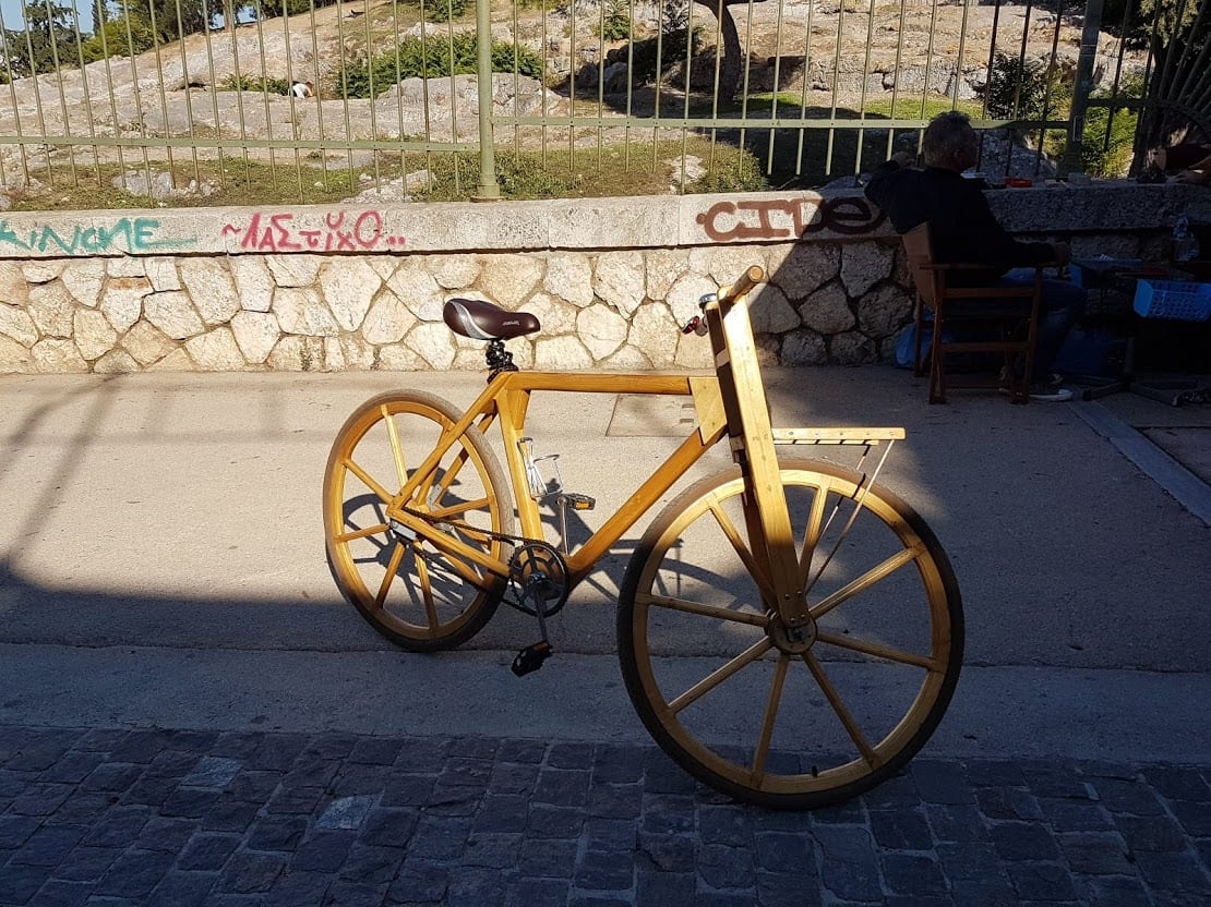 Bicycles can be made of wood