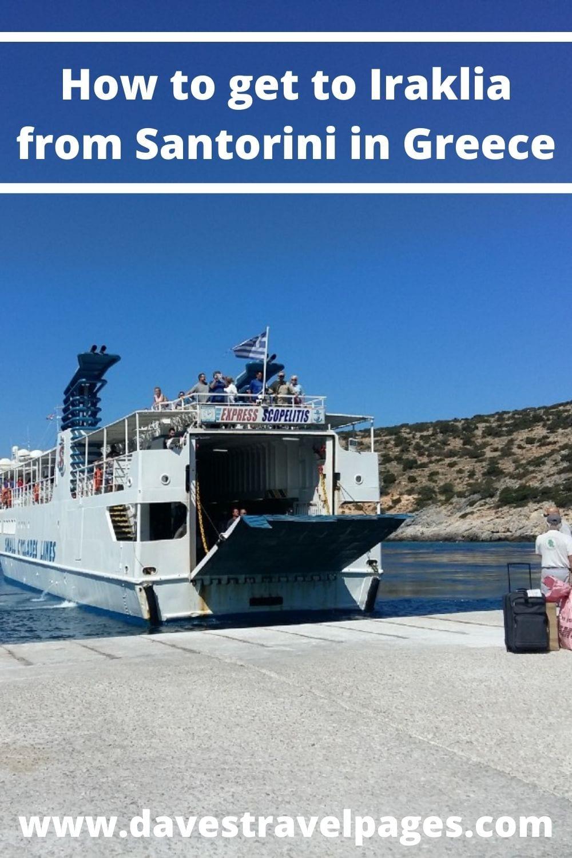How to get to Iraklia island from Santorini