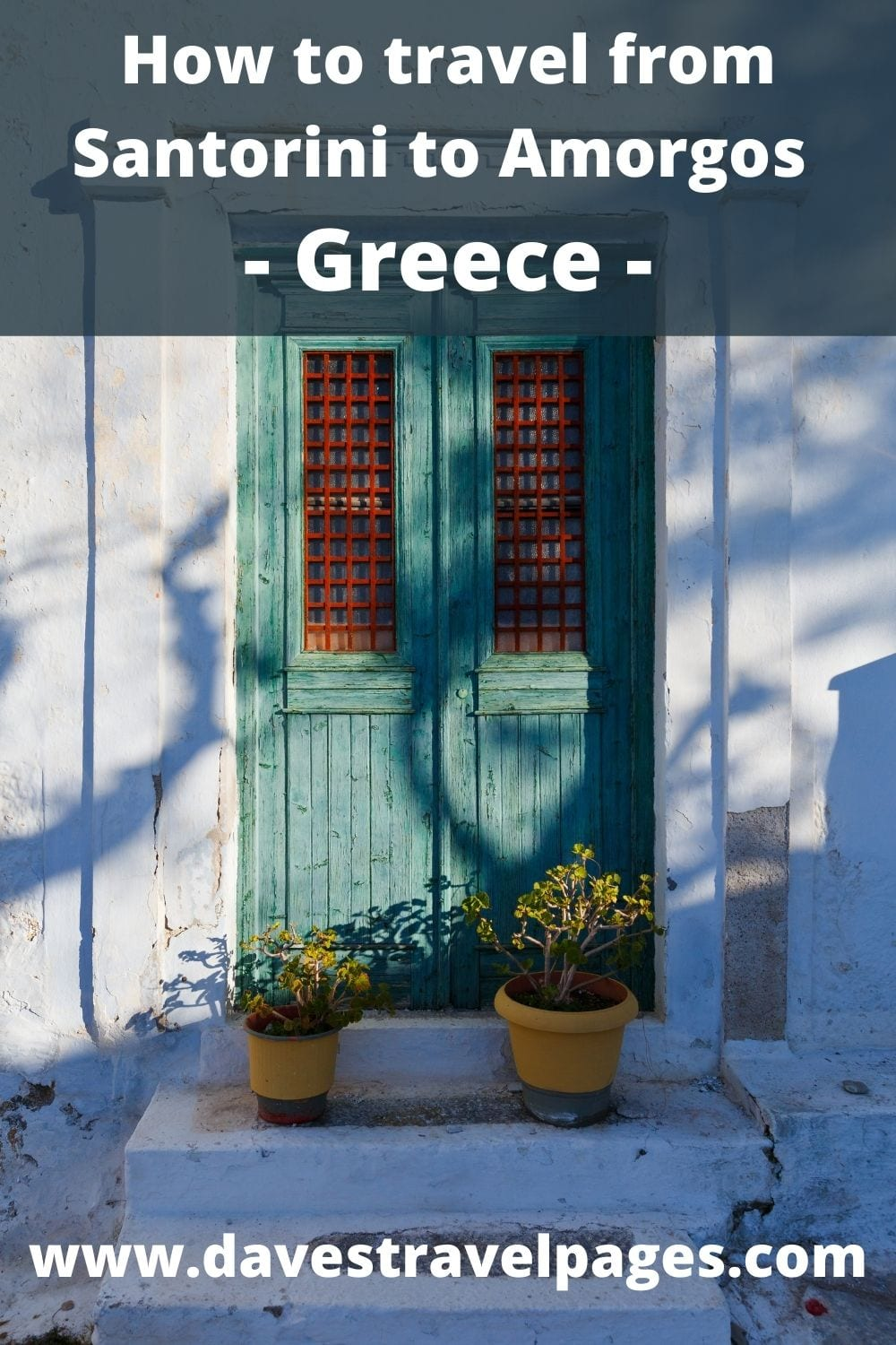 How to travel by ferry from Santorini to Amorgos in Greece