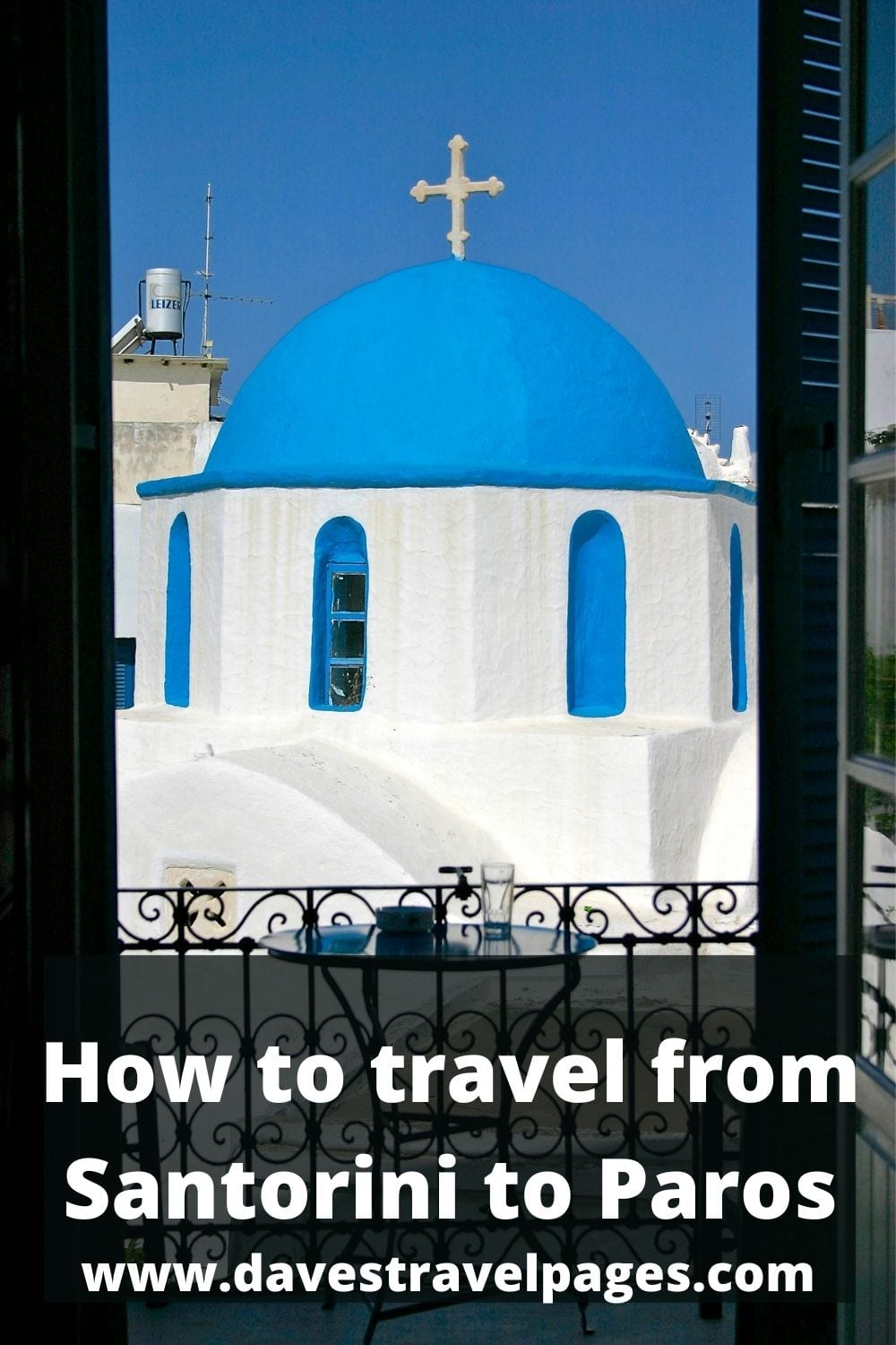 How to take the ferry from Santorini to Paros in Greece