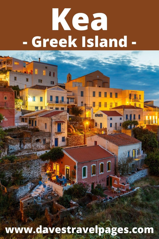 How to get from Mykonos to Kea island in Greece