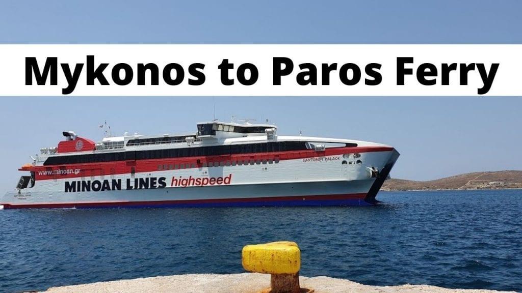 Mykonos to Paros ferry schedules