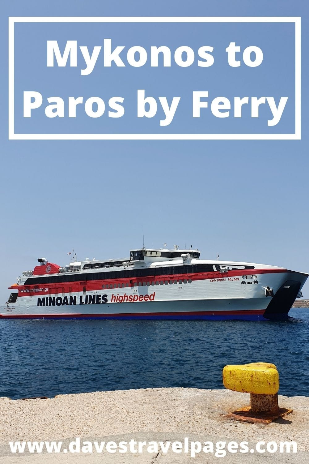 Traveling from Mykonos to Paros by Ferry