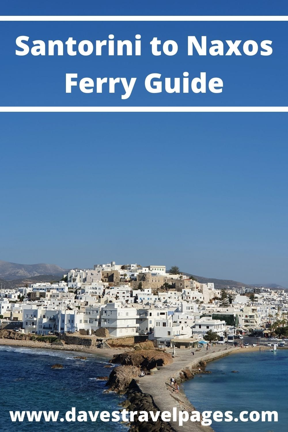 How to take the ferry from Santorini to Naxos in Greece
