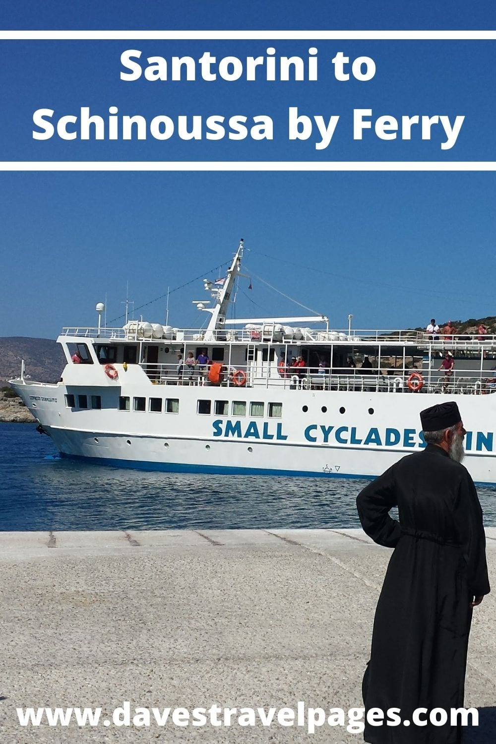 How to get from Santorini to Schinoussa by ferry