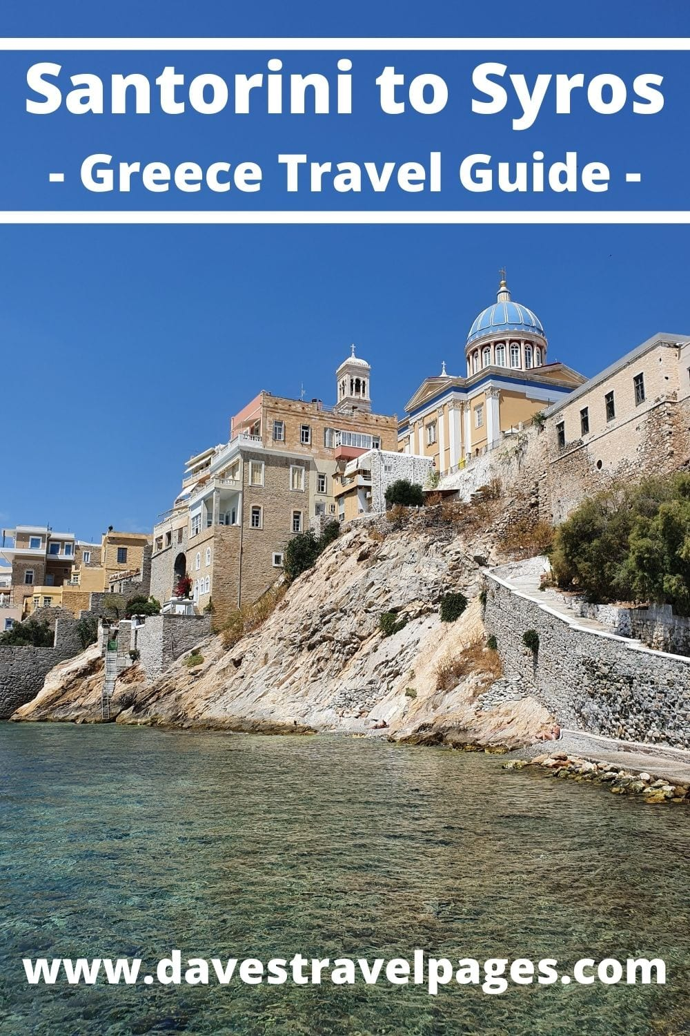 How to get from Santorini to Syros in Greece