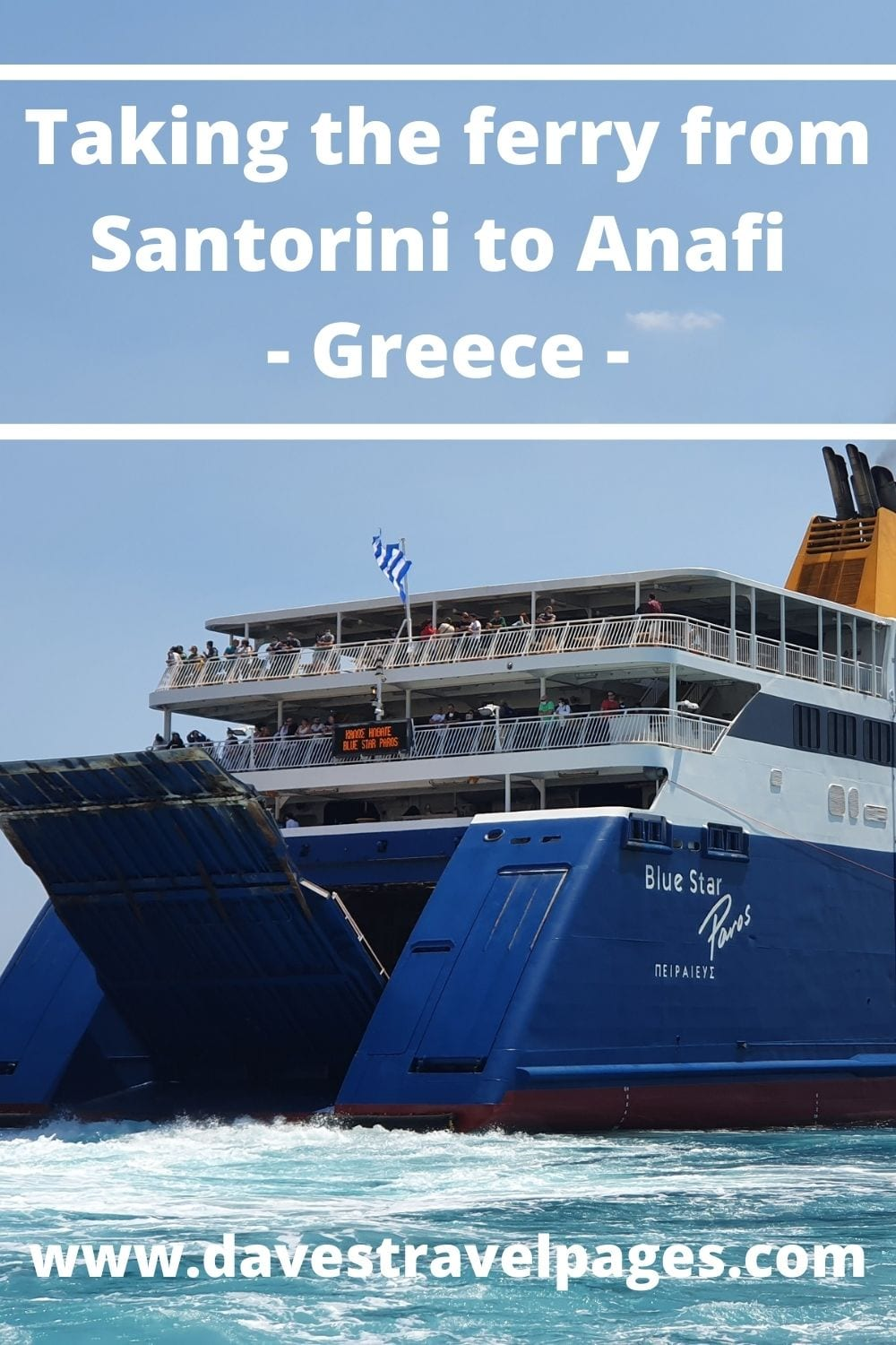 How to get the ferry from Santorini to Anafi in Greece
