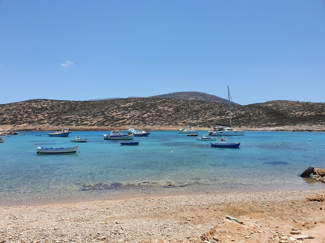 Relaxing on a beach in Amorgos