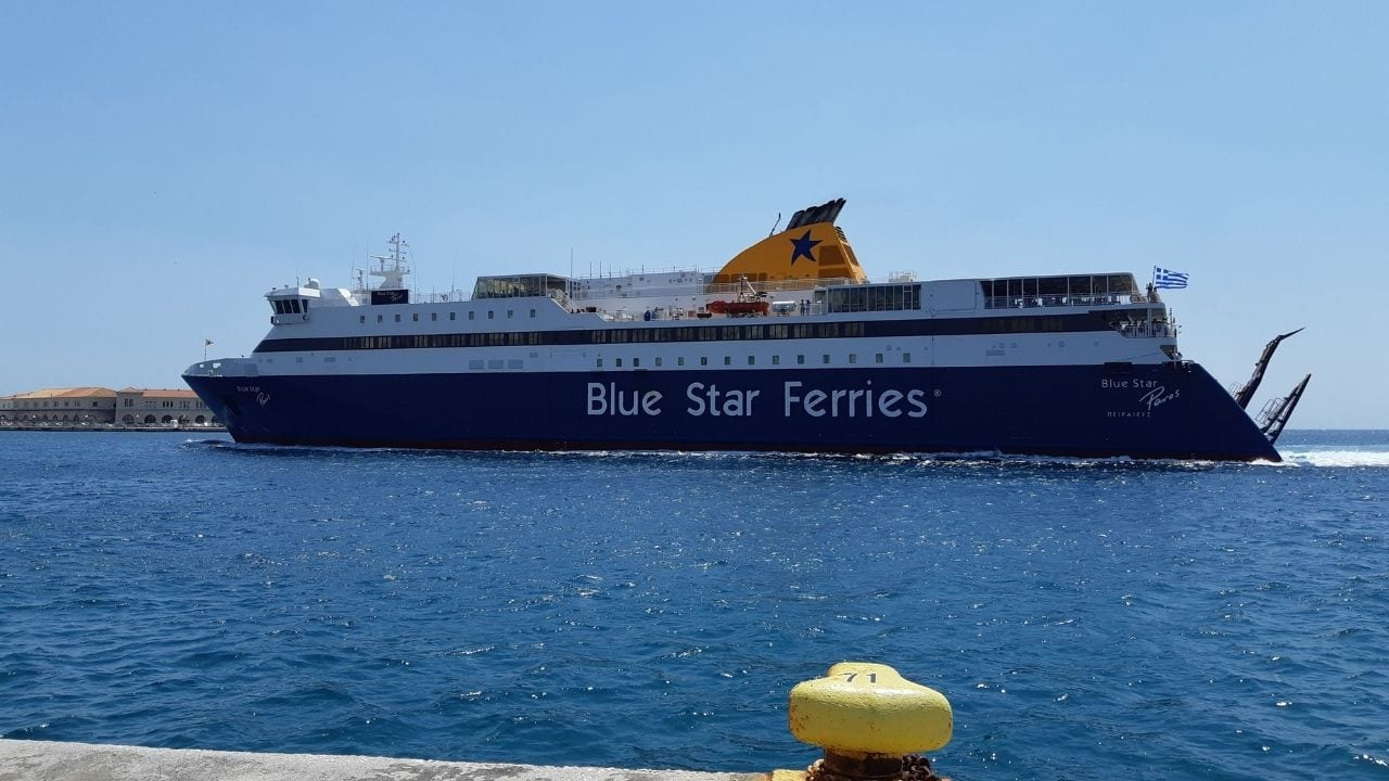 Greek ferries from Mykonos to Syros