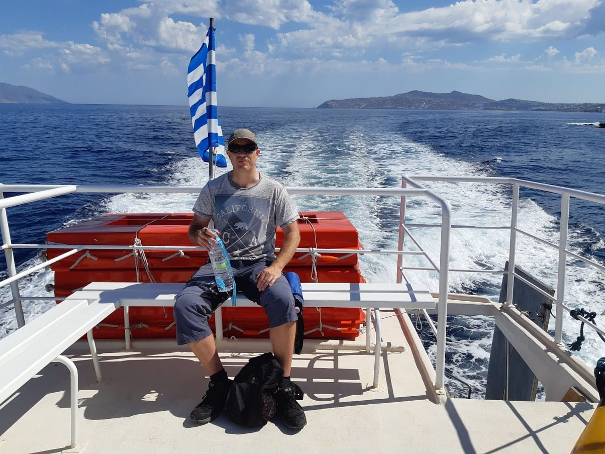 Dave Briggs traveling to the islands near Mykonos