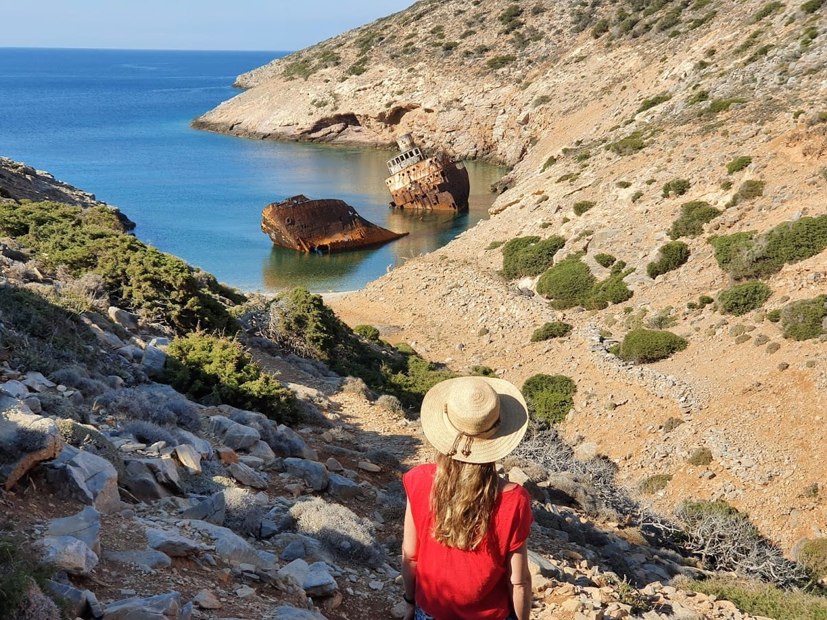 The Olympia shipwreck in Amorgos
