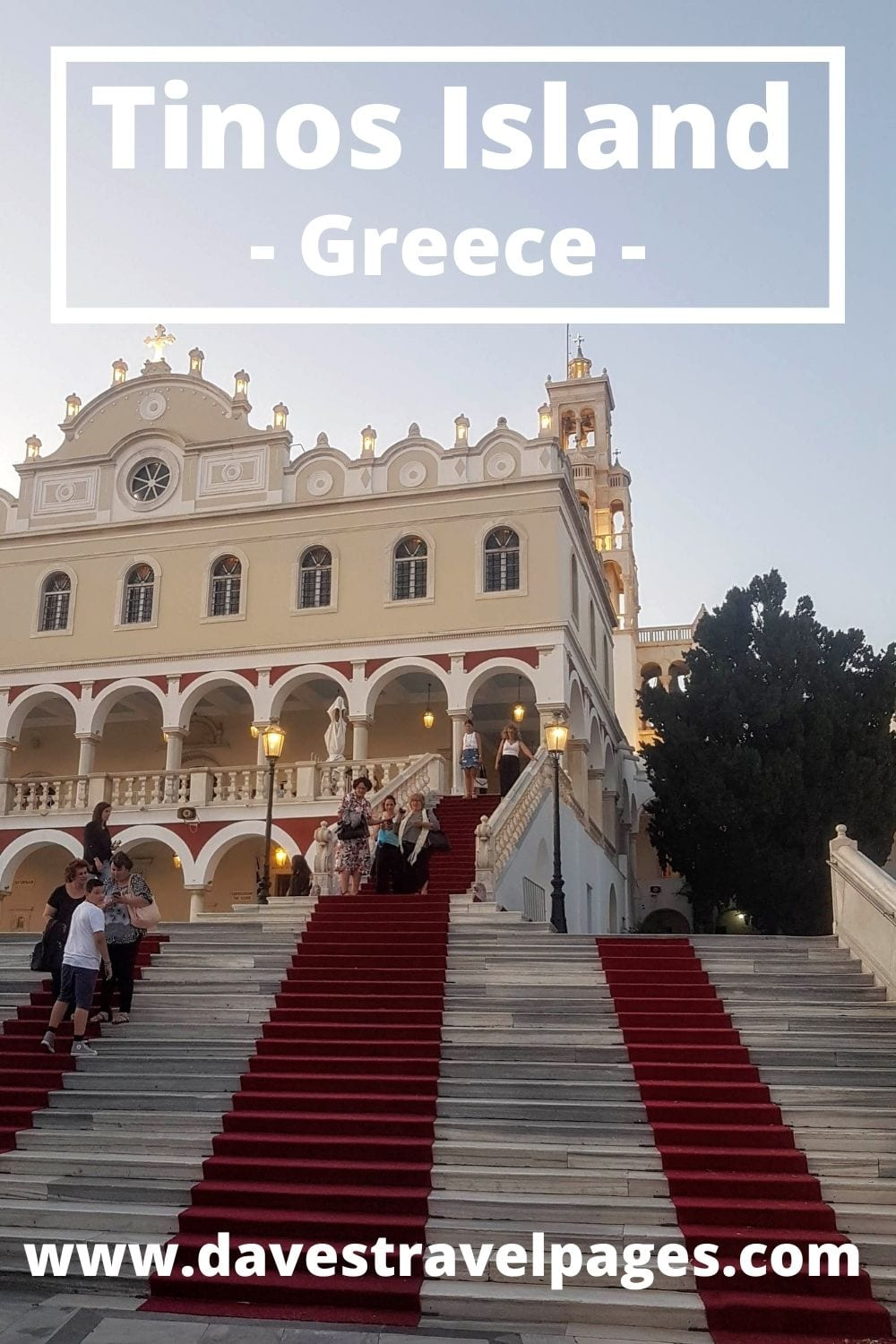 How to get from Mykonos to Tinos island by ferry in Greece