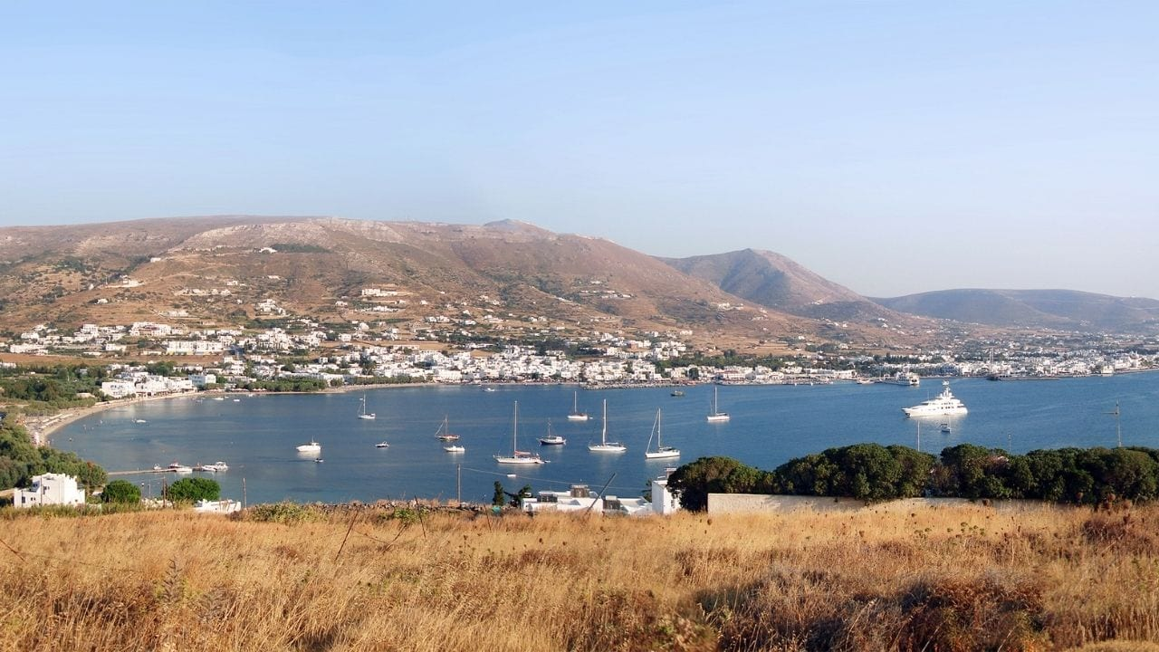 Traveling to Antiparos in Greece