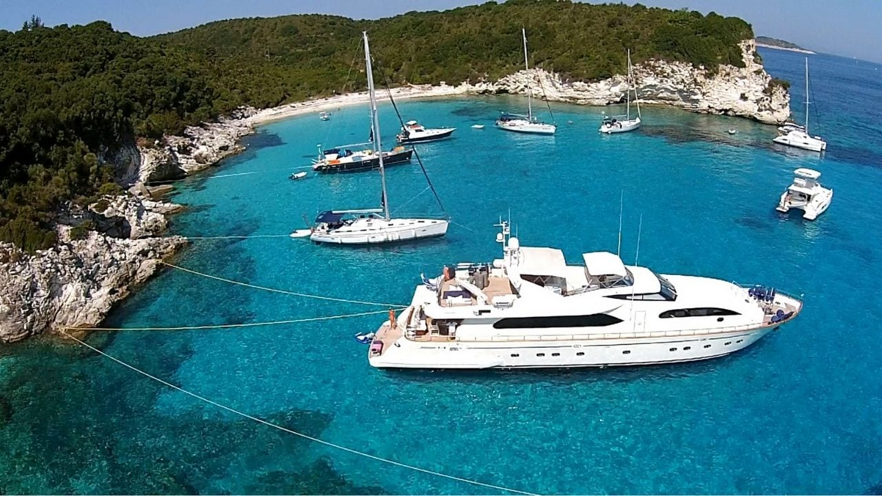 Antipaxoi island in the Ionian Sea