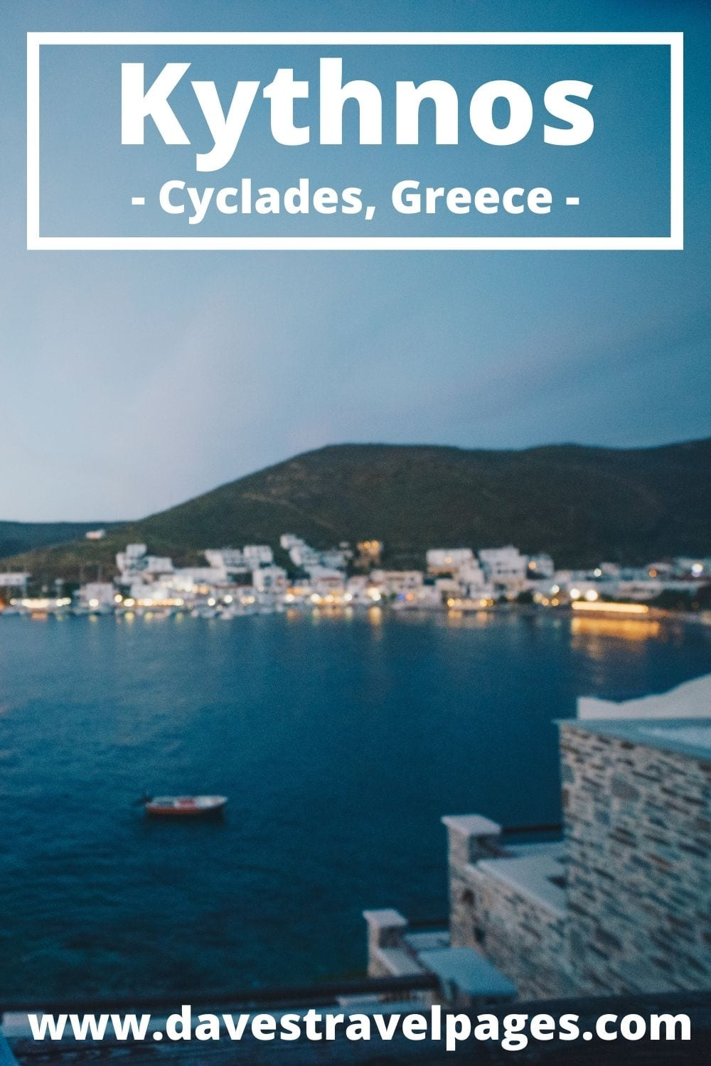 Taking a ferry to Kythnos island from Milos in Greece