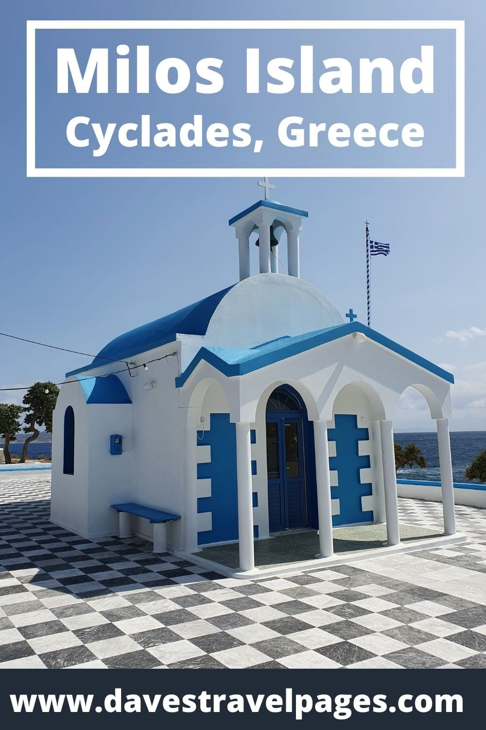 Visiting Milos Island after Syros in the Cyclades Greece