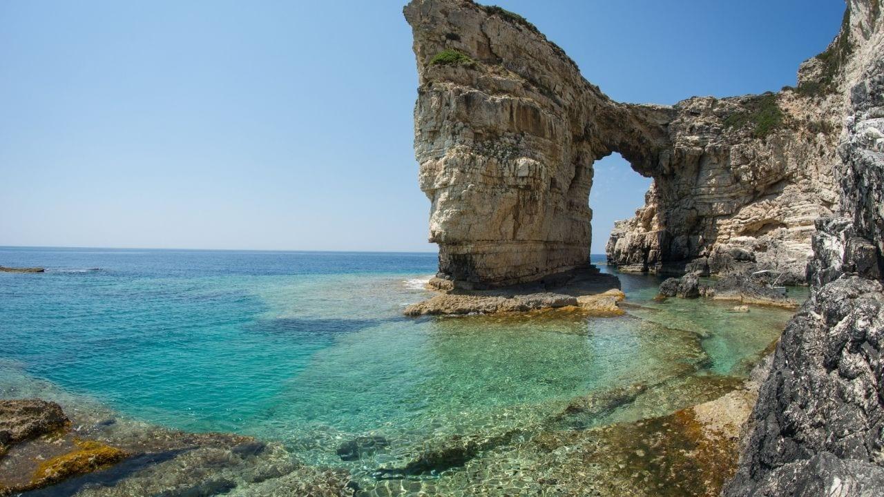 Paxi island in Ionian Sea