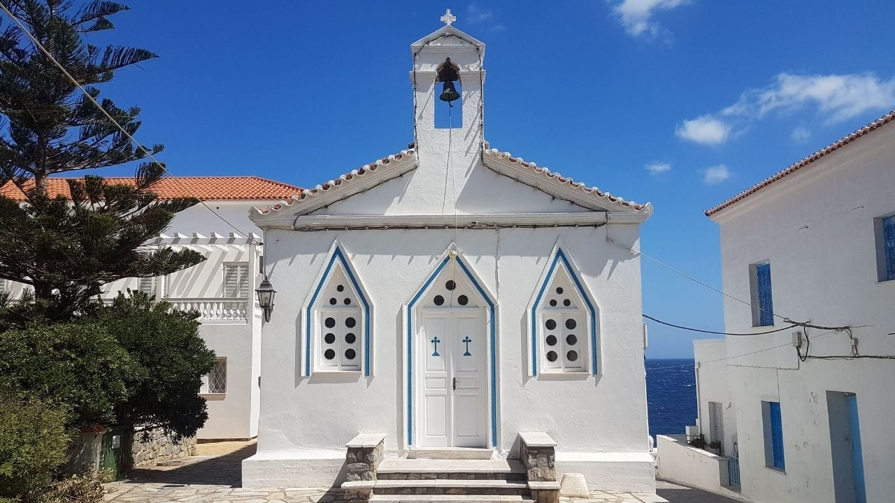A church on Andros island in Greece